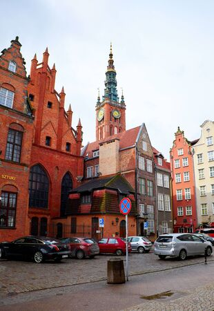 GDANSK, POLAND - APRIL 1, 2015: Streets of historical center, Gdansk is located in northern Poland and is very popular tourists destination