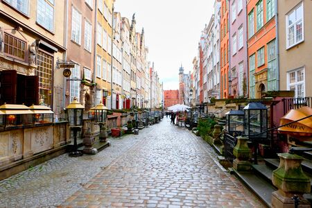 peoples: GDANSK, POLAND - APRIL 1, 2015: Streets of historical center, Gdansk is located in northern Poland and is very popular tourists destination