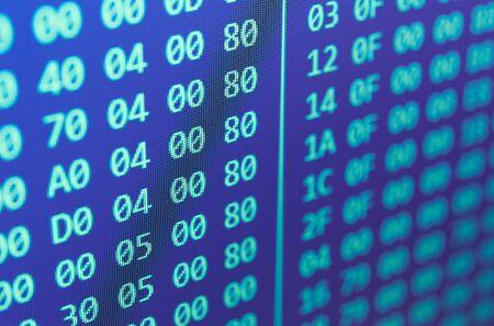 program code: Hexadecimal program code background