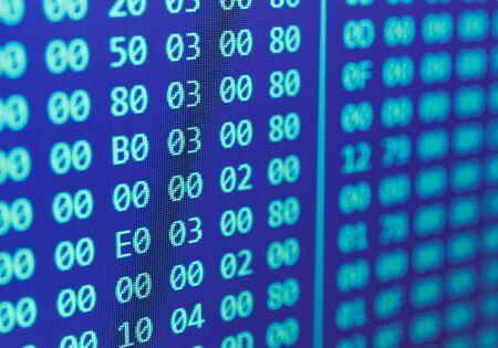 Computer Code: Hexadecimal program code background