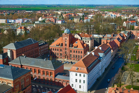 greifswald: GREIFSWALD, GERMANY - APRIL 2, 2015: University of Greifswald, is one of the oldest universities in Europe, founded in 1456, Mecklenburg-Vorpommern, Germany Editorial