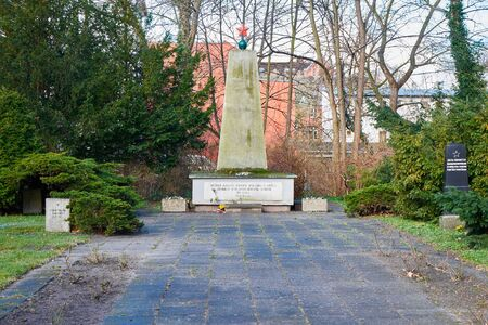 greifswald: Memorial to Soviet soldier died in WWII. Greifswald