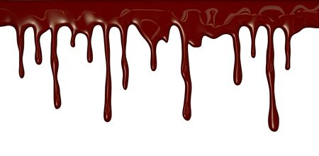 bloodshed: Chocolate streams isolated on white Stock Photo