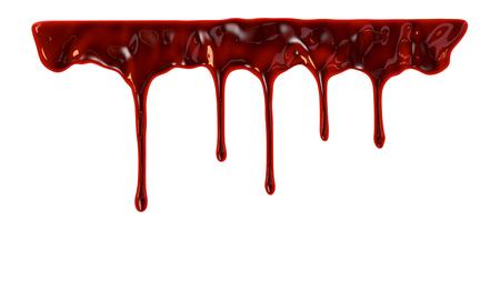 Blood dripping down over white background Standard-Bild