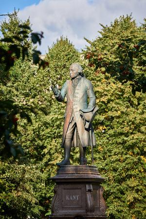immanuel: KALININGRAD, RUSSIA - SEPTEMBER 18, 2015: Monument of Immanuel Kant, German philosopher, founder of German classical philosophy.