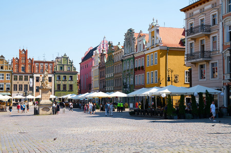 stary: POZNAN, POLAND - AUGUST 20, 2015: Old Market Square at the city center, Stary Rynek