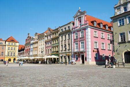 wielkopolskie: POZNAN, POLAND - AUGUST 20, 2015: Old Market Square at the city center, Stary Rynek