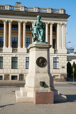 sanitation: POZNAN, POLAND - AUGUST 20, 2015: The Monument Hygieia - Goddess of good health, cleanliness, and sanitation
