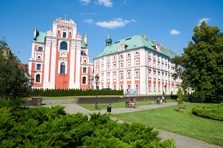 frederic: POZNAN, POLAND - AUGUST 20, 2015: Park Frederic Chopin and Church of the Mother of God of unceasing Help and St. Mary Magdalene Editorial