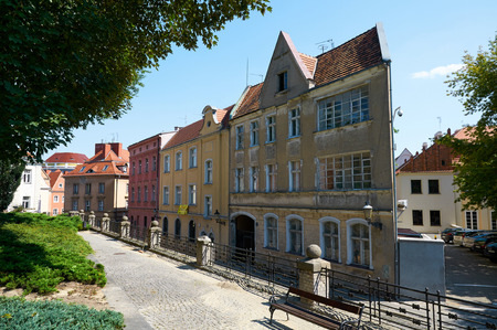 POZNAN, POLAND - AUGUST 20, 2015: Historical city center, old town streets. Poznan is a city in western Poland