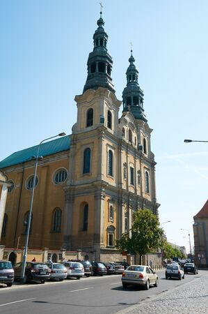 seraphic: POZNAN, POLAND - AUGUST 20, 2015: St. Francis Seraphics Church, the Franciscans - Bernardines
