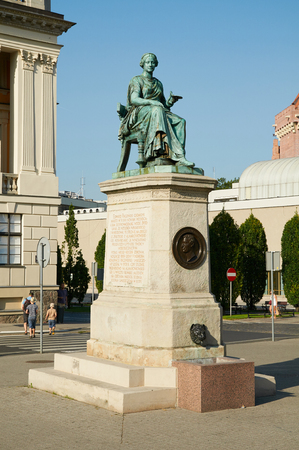 exterior shape: POZNAN, POLAND - AUGUST 20, 2015: The Monument Hygieia - Goddess of good health, cleanliness, and sanitation