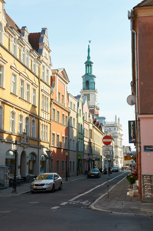 old town square: POZNAN, POLAND - AUGUST 20, 2015: Historical city center, old town streets near the Old Market Square (Stary Rynek) Editorial