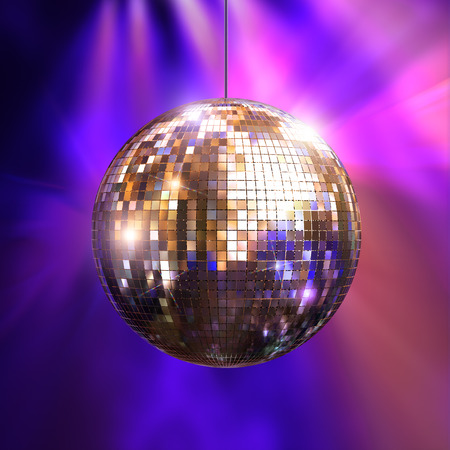 glitter ball: Party lights disco ball, 3d illustration