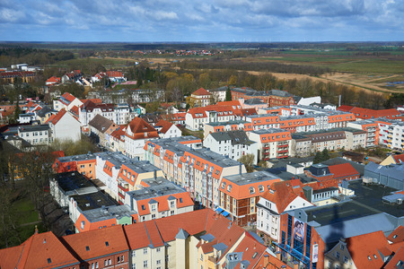 GREIFSWALD, GERMANY - APRIL 2, 2015: Streets of historical center, view of the old part of the city, Mecklenburg-Vorpommern, Germany Editorial