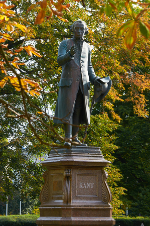 immanuel: KALININGRAD, RUSSIA - OCTOBER 12, 2015: Monument of Immanuel Kant, German philosopher, founder of German classical philosophy.