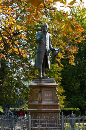 KALININGRAD, RUSSIA - OCTOBER 12, 2015: Monument of Immanuel Kant, German philosopher, founder of German classical philosophy.
