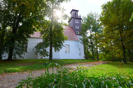 CHISTYE PRUDY, KALININGRAD REGION, RUSSIA - SEP 27, 2015: The Museum Of Kristijonas Donelaitis, the author of the first Lithuanian poem The Seasons