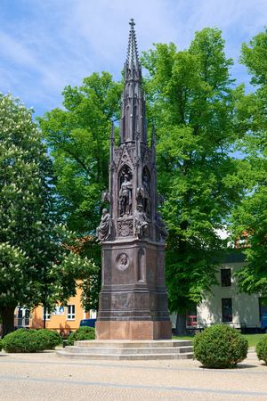 heinrich: GREIFSWALD, GERMANY - MAY 23, 2016: Memorial, was erected in 1856 for celebration of the 400th anniversary of the university in honour of founder and first rector Heinrich Rubenow Editorial