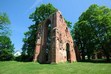 religious building: Ruin of the monastery Eldena. Greifswald Stock Photo