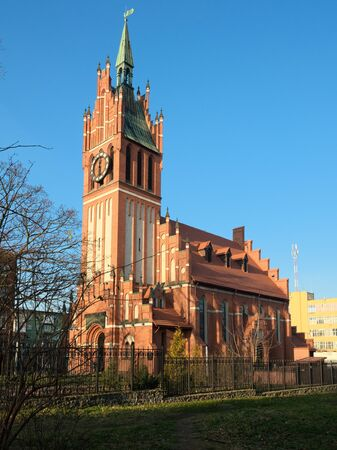 Church of the Holy Family in Kaliningrad. Russia 版權商用圖片 - 68299224