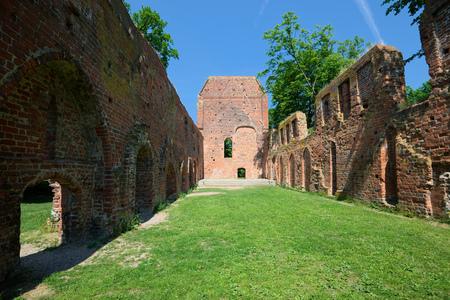 greifswald: Ruin of the monastery Eldena. Greifswald Stock Photo