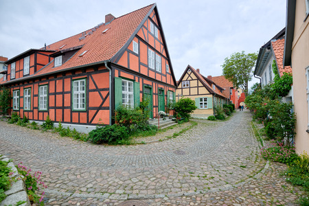 STRALSUND, GERMANY - MAY 26, 2016: Heilgeistkloster landmarks heritage building ensemble of the Hanseatic city of Stralsund 新聞圖片