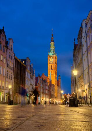 Streets of historical center, Gdansk is located in northern Poland and is very popular tourists destination