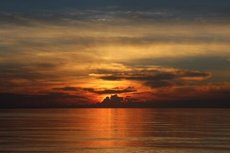 Sunset on Big Island Beach, Merigomish, Nova Scotia. Stock Photo