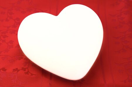 heart on red background valentine's day  Stock Photo - 6374834