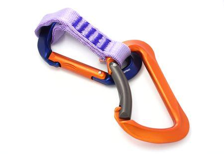 climbing equipment - two carabiners photo