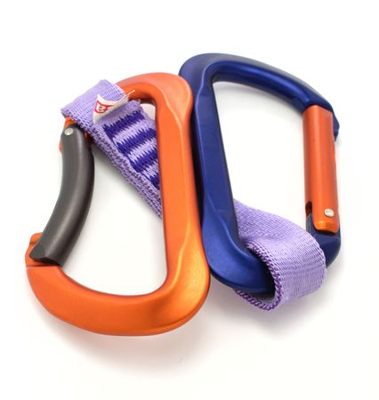 carabiner and express isolated photo