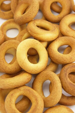 boublik: Ring bagels as a background