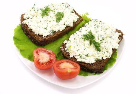 sandwich with cheese cream  photo