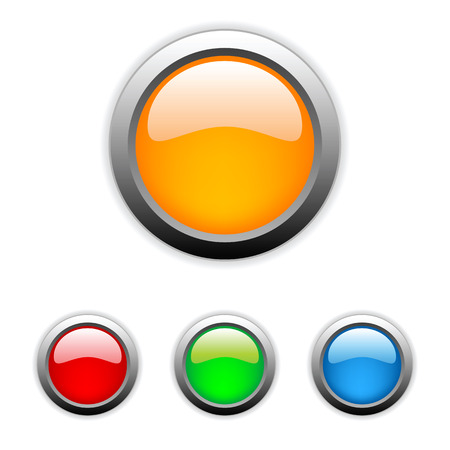 Vector glossy buttons Stock Vector - 6514424