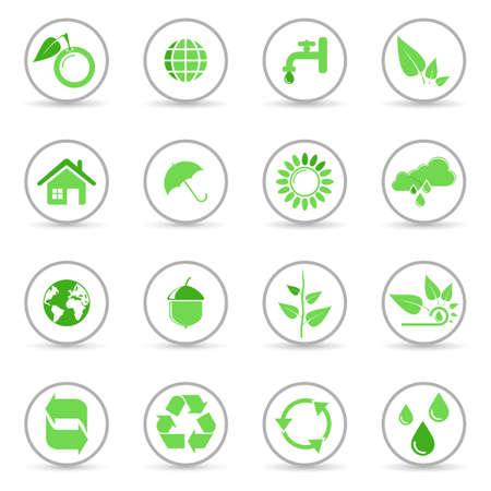 Environmental and recycling vector icons set Stock Vector - 6514422