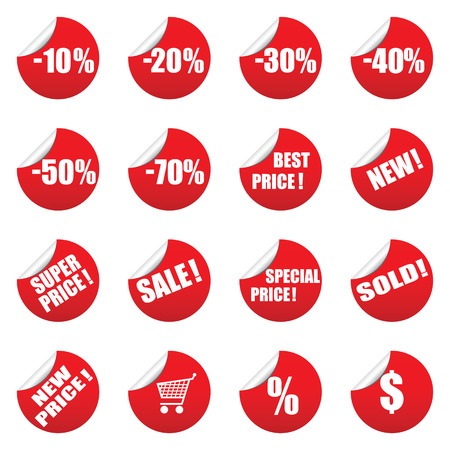 Vector sale tag stickers set Stock Vector - 6514420