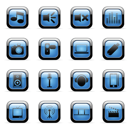 Vector icons set for web applications (set1) Stock Vector - 6514429
