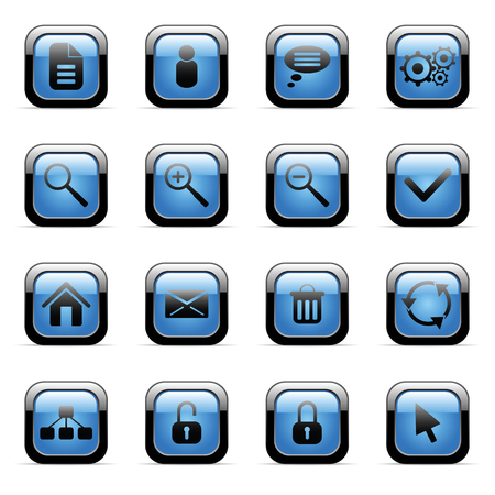 Vector icons set for web applications (set3) Stock Vector - 6514421