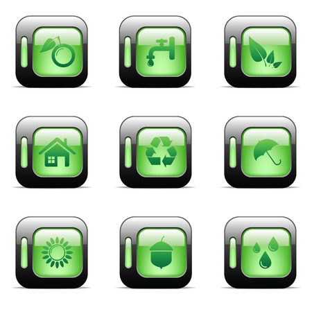 Environmental and recycling vector icons set Stock Vector - 6514434