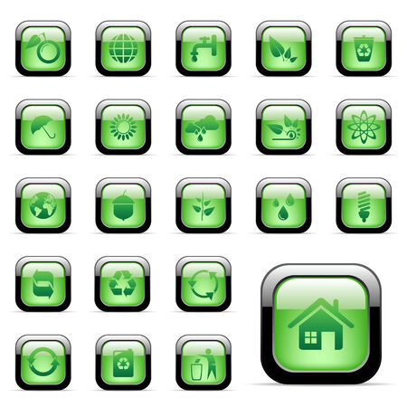 Vector - 23 environmental for web design Stock Vector - 6514440