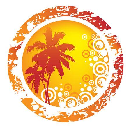 Tropische abstracte achtergrond