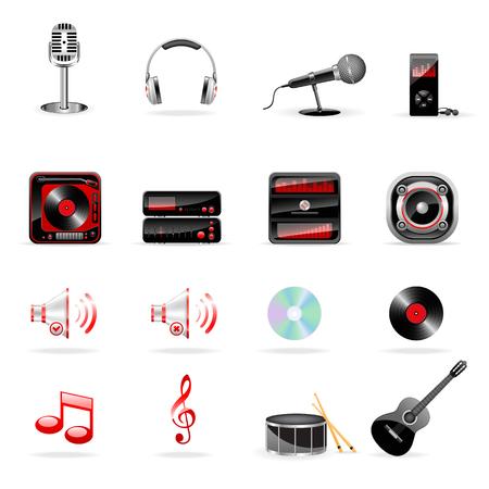 Vector music icon set Stock Vector - 6514448