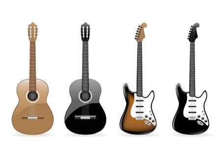 Set of vector guitars Stock Vector - 6514447