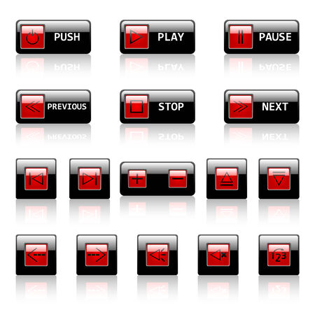 Vector buttons for web applications Stock Vector - 6567317