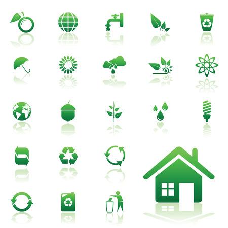 Recycle vector icons set voor web design