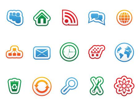 Label icon set for web design Vector