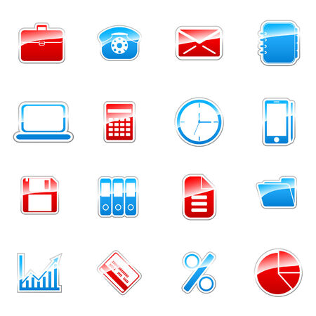 Label icon set for web design (set 3) Stock Vector - 6567306