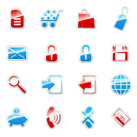 Label icon set for web design (set 4) Stock Vector - 6567315