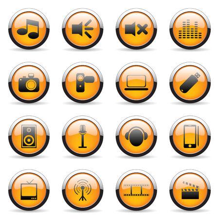 Orange vector icon (set 1) Vector